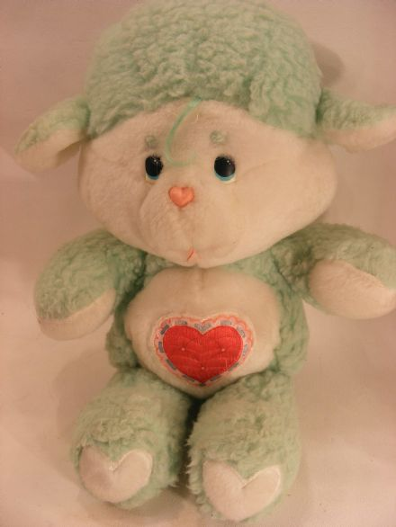 "VINTAGE 12"" GENTLE HEART LAMB CARE BEARS COUSIN"